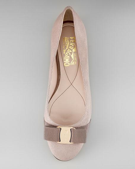 Varina Textured Ballerina Flat
