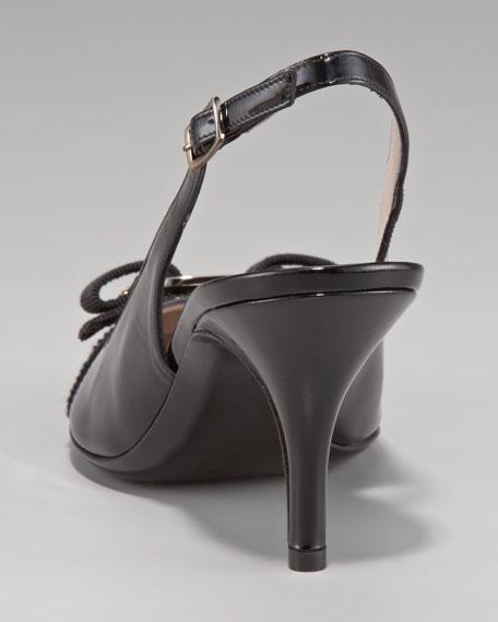 Flavia Bow-Toe Slingback