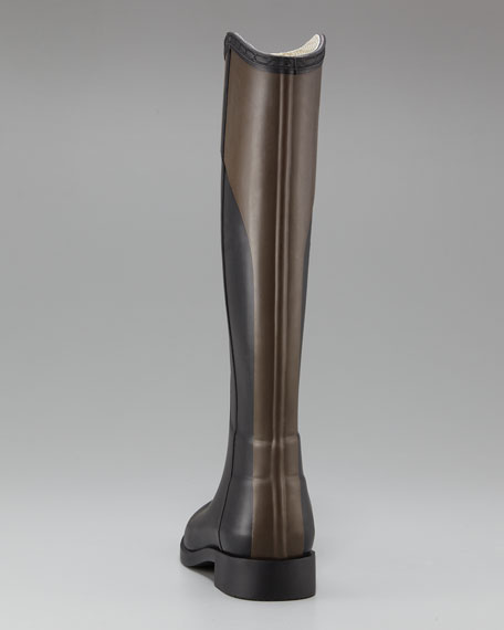 Two-Tone PVC Riding Boot