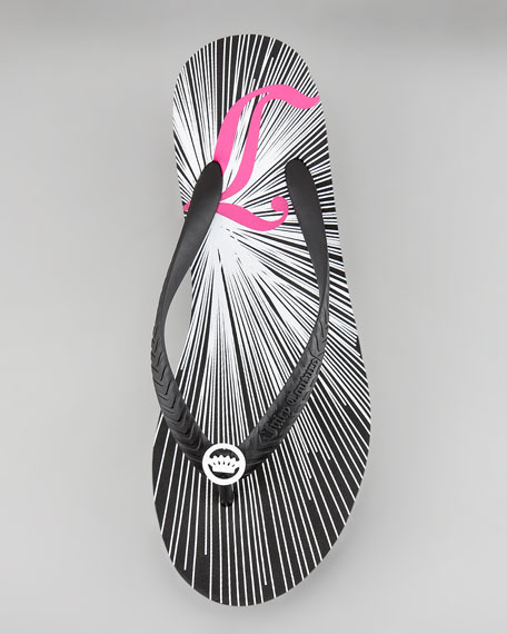 Cara Mid-Wedge Graphic Flip Flop