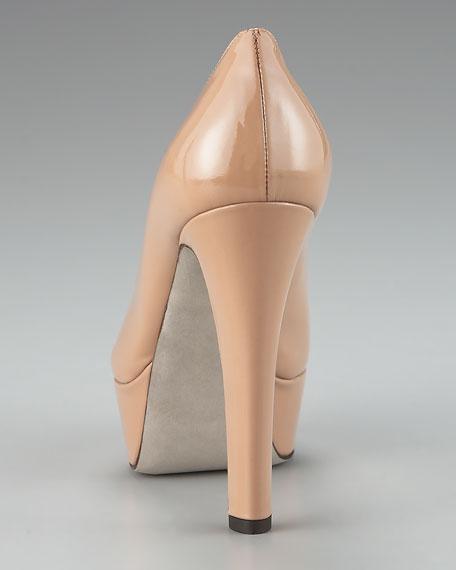 Thick-Heel Patent Pump