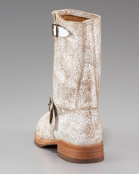 Veronica Crackled Leather Boot