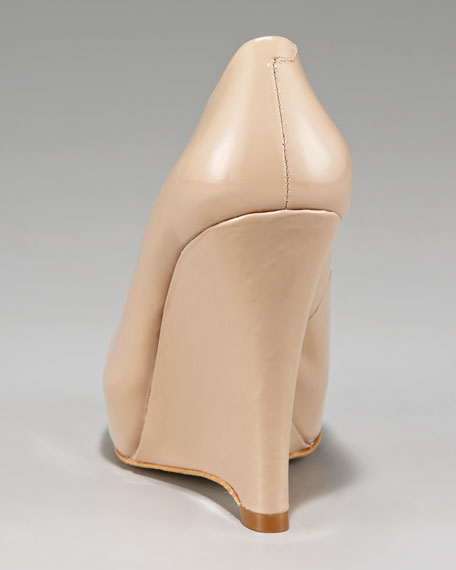 Patent-Leather Wedge Pump