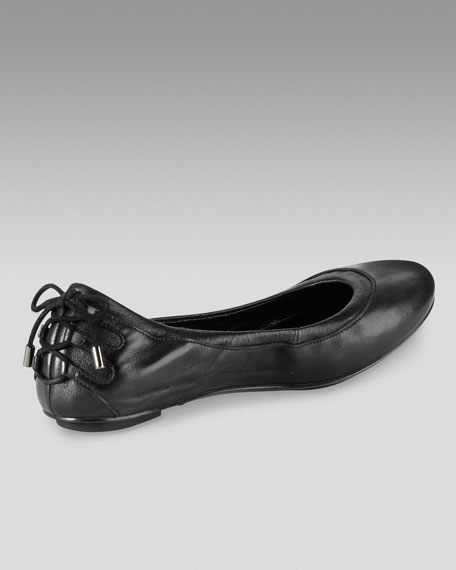 Air Bacara Leather Ballerina, Black