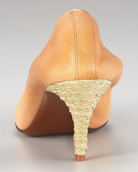 Espadrille-Heel Ballerina Pump