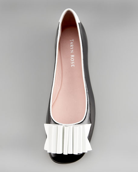 Origami Fan Patent Leather Flat