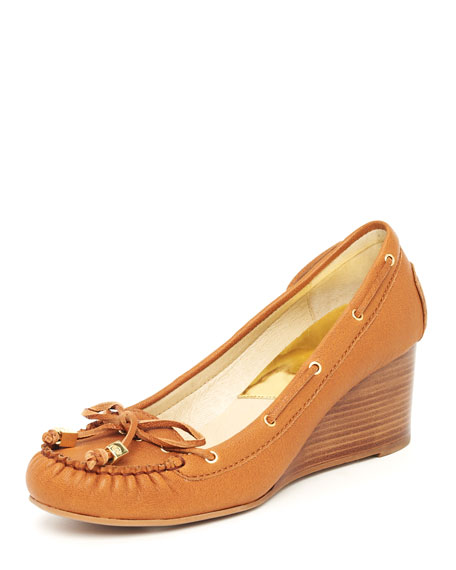 Amber Moccasin Wedge