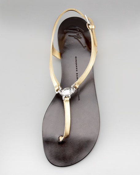Crystal-Detail Thong Sandal