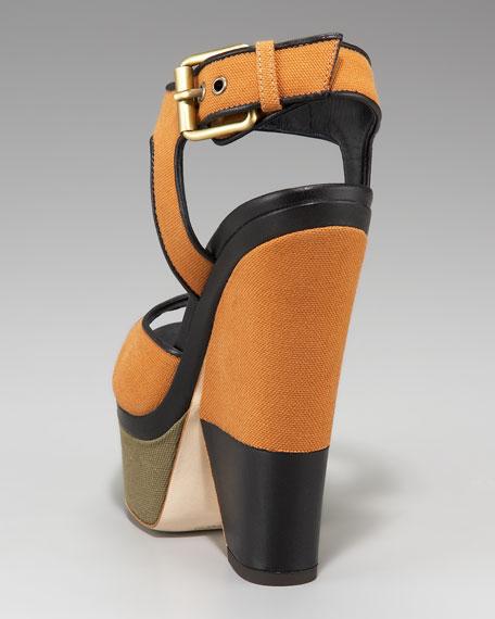 Colorblock Canvas Sandal