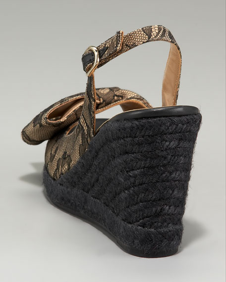 Mena Lace Bow Espadrille Slingback