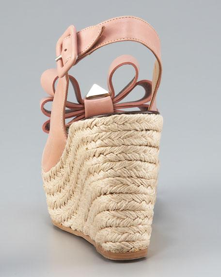 Studded Versaille Bow Slingback Espadrille