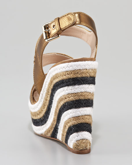 Metallic Striped Espadrille