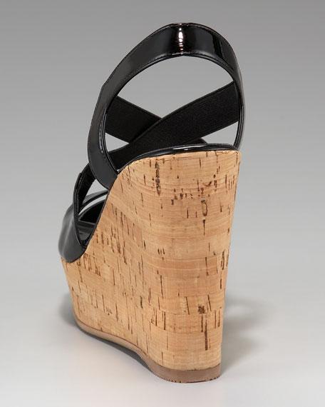 Crisscross Strappy Platform Wedge Sandal