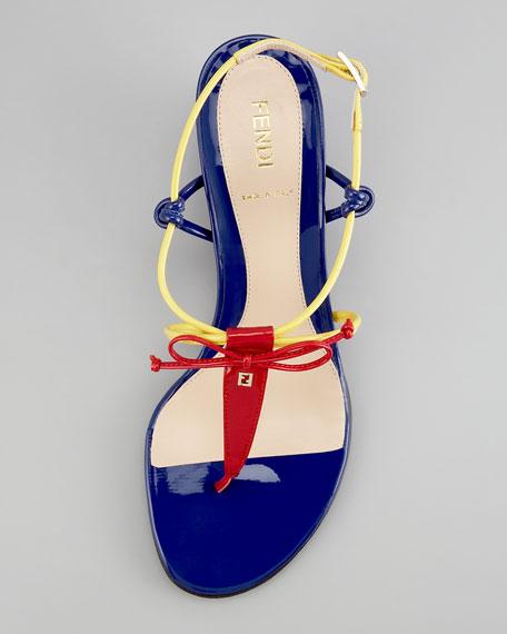 Bow Wedge Thong Sandal
