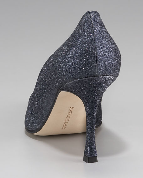 Newcio Pointed-Toe Glittered Pump