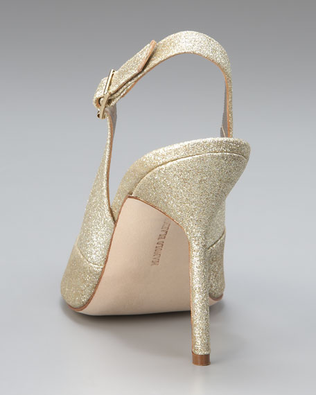 Brillis Glittered High-Heel Slingback