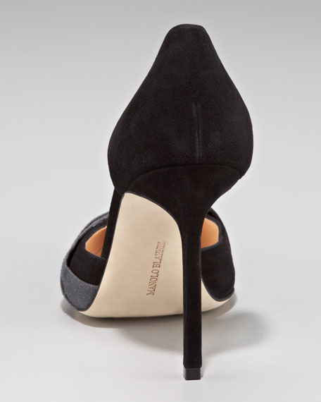 Caucedo Ruched Suede Point-Toe d'Orsay