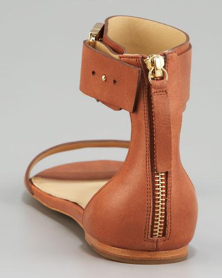 Flat Ankle-Wrap Sandal