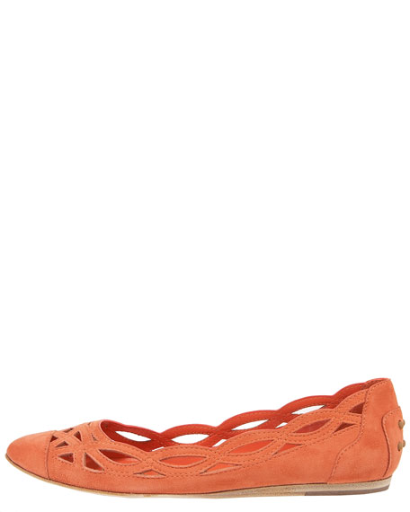 Cutout Ballerina Flat