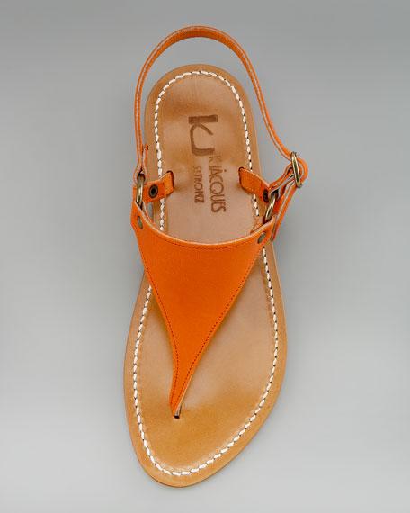 Slingback Flat Thong Sandal