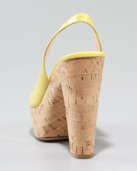 Slingback Cork Platform Sandal