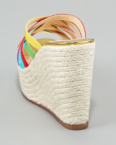 Crepon Ribbon Espadrille Slide