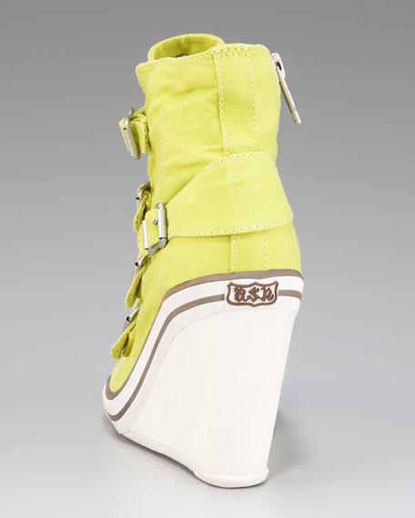 Buckled Wedge Sneaker