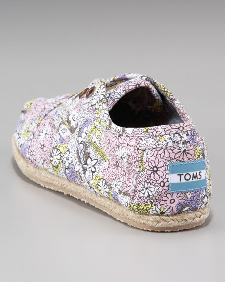 Floral-Print Oxford Slip-On