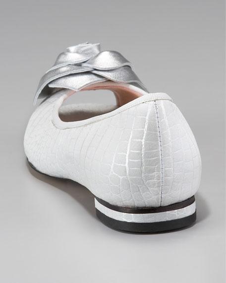 Rose-Toe Ballerina Flat