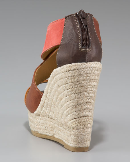 Colorblock Espadrille Wedge