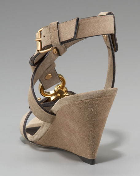 Asymmetric Buckled Wedge Sandal