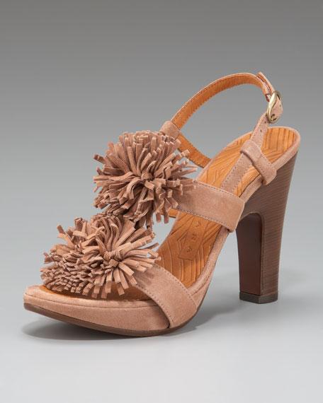 Pom-Pom Slingback Sandal