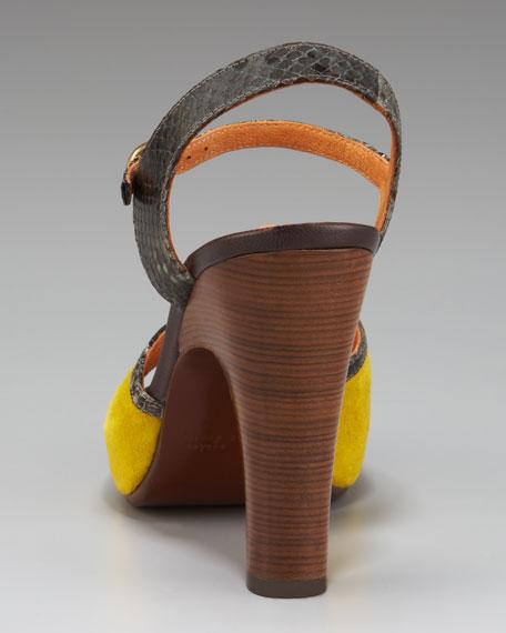 Colorblock Platform Sandal