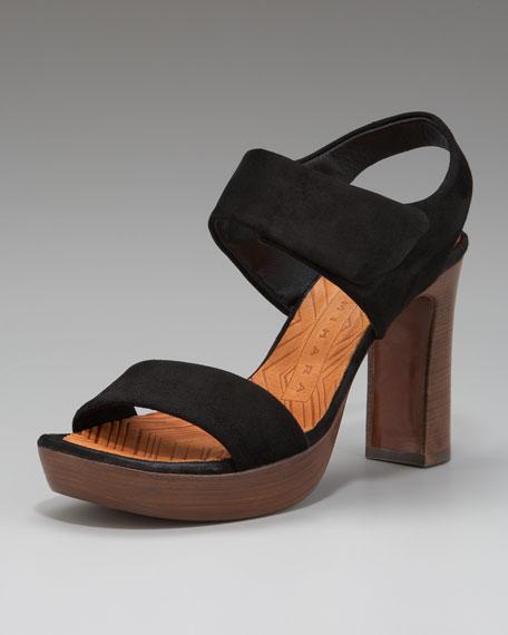 Platform Suede Sandal