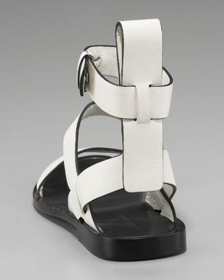 Annette Flat Ankle-Wrap Sandal