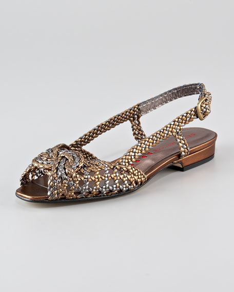 Knotted Woven Slingback