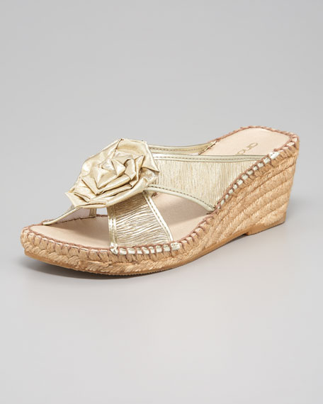 Flower Espadrille Slide
