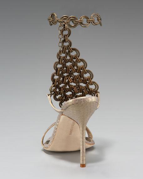 Ellam Chain-Maille Snake Sandal