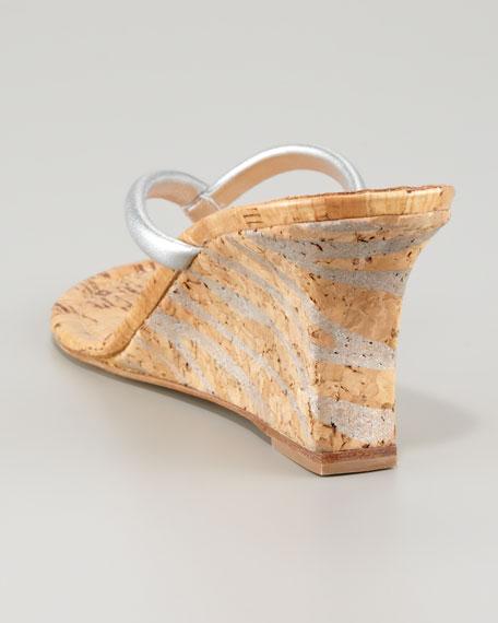 Patwedge Zebra-Wedge Thong Sandal