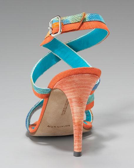 Peculiamo Colorblock Lizard Sandal