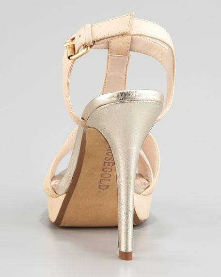Betina Mixed-Leather Platform Sandal