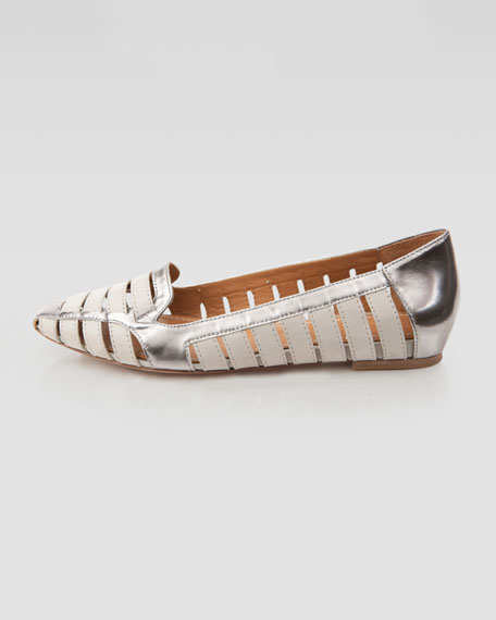 Metallic Cutout Loafer