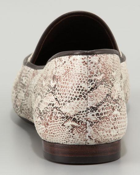 Snake-Print Loafer