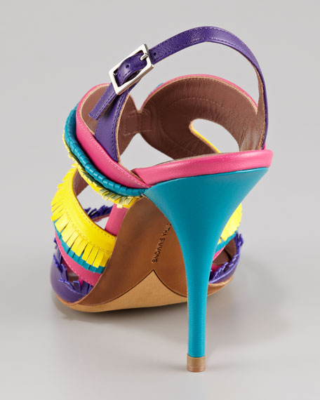 Gemma Fringe Colorblock Sandal