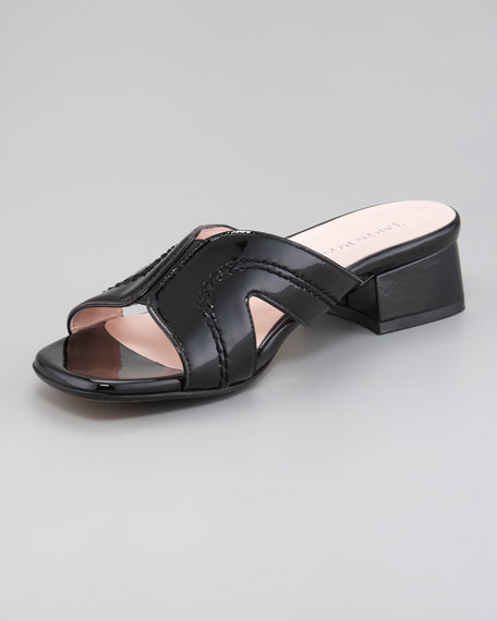 Low-Heel Cutout Sandal