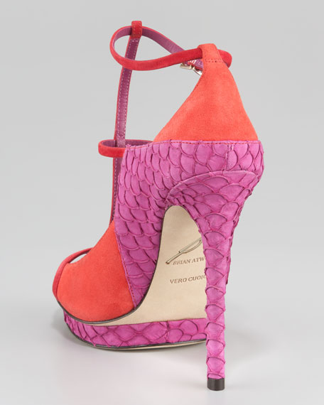Campisa Colorblock T-Strap Pump