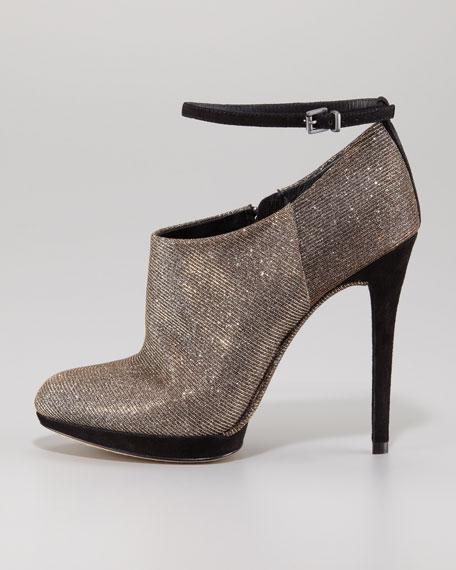 Sparkle Ankle-Strap Bootie