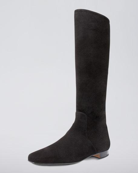 Flat Square-Toe Boot
