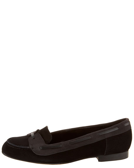 Napa-Laced Suede Loafer