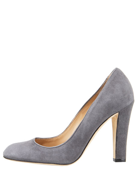 Suede High-Heel Pump